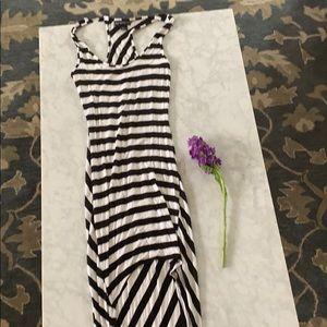 Black White striped dress 🤍🖤